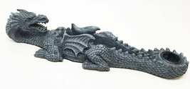 Ebros Gothic Faux Stone Mythical Fire Breathing Dragon Incense Stick And... - $19.79