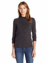 Calvin Klein Women's Textured Mock Neck Top, Charcoal, S - $48.51