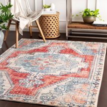 Transitional Traditional Medallion Red Area Rug **FREE SHIPPING** - $59.00+