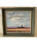 Listed Artist Sam Vinikoff 1979 Florida Everglades Landscape Painting on... - $799.00