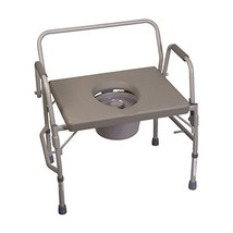 Duro-Med Commode Chair, Heavy-Duty Steel Commode Toilet Chair, Toilet Sa... - $86.54