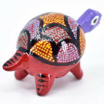 Handmade Oaxacan Alebrijes Wood Carving Folk Art Turtle Bobble Head Figurine image 4