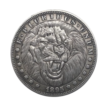 Hobo Nickel 1895-O USA Morgan Dollar The Lion COPPY COIN For Gift - $5.99