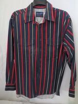 Wrangler X Long Tails Stripe Dress Shirt Blue Red White Long Sleeve 2 po... - $30.00