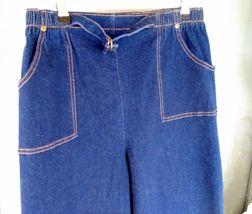 Denim & Company Elastic Waist Jeans Size LT Dark Blue image 2