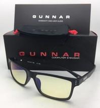 Nuevo Gunnar Ordenador Gafas Vertex 54-16 Ónix Negro Marco con / Ámbar A... - $59.95