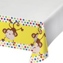 """Creative converting Party Monkey Fun plastic table cover 48"""" x 88"""" - $1.57"""