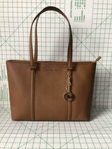 Michael Kors Sady Large Multifunction Top Zip Tote Saffiano Bag in Luggage - $139.00