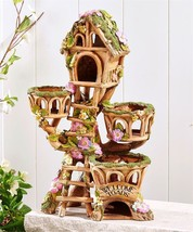 Enchanted Garden Treehouse or Toad House Design with 3 Planter Pot Planters NEW