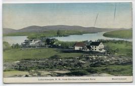 Panorama Lake Sunapee New Hampshire 1910c hand colored postcard - $6.44