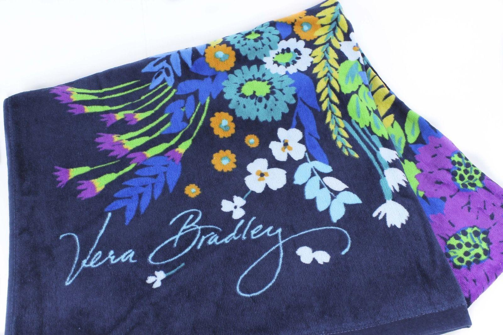 Vera Bradley Beach Towel Midnight Blues NWT Retired Pattern