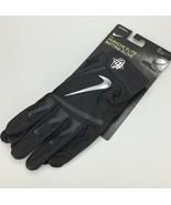 Nike Adult Huarache Elite Baseball Batting Gloves Black Metallic PGB543-... - $44.99