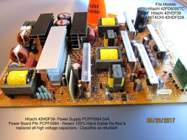 HITACHI 42HDF39 Main Power Supply PCPF0084 54A [See List] - $38.00