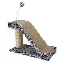 Penn Plax Cat Scratching Post and Pad with Toy Fun Leopard Print - £17.95 GBP