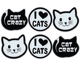 Mini Cat Magnets (Set of 6) - Cat Crazy, I Love Cats, Cat Face - Decorat... - $7.99