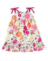 Summer Bouquet Gymboree NWT White  Flower Woven Dress Diaper Cover 3- 6   mos. - $10.99