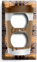 COFFEE TIME PAPER CUP LIGHT SWITCH OUTLET PLATE ROOM KITCHEN CAFE SHOP ART DECOR image 4