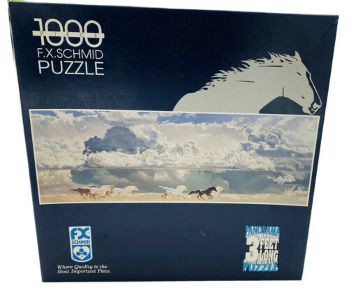 Galloping - 1000 Pc 3 Ft Long Puzzle -Vintage 1994 - F.X.SCHMID - Complete K - $33.42