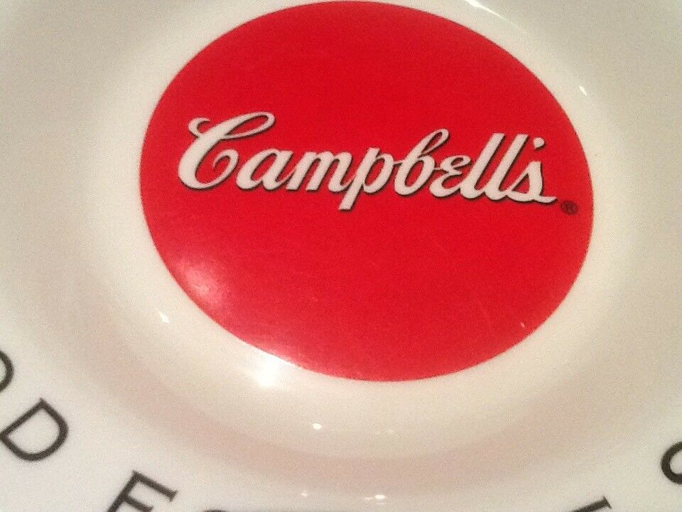 9 CAMPBELL SOUP BOWLS ARCOPAL FRANCE GOOD FOR THE BODY GOOD FOR THE SOUL NICE image 6