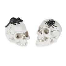 Darice Halloween Decor - Resin Mini Fairy Skull Bone Rat Spider 2pc #300... - $12.95