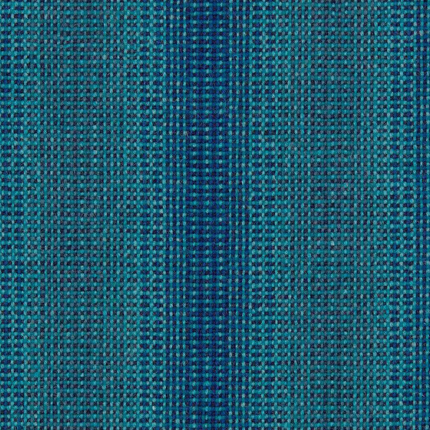 Maharam Tapisserie Tissu Laine Striae Aqua Bleu 466184–006 3.1m GW