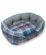 Touchdog 'Archi-Checked' Designer Plaid Oval Dog Bed - $59.99+