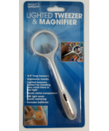 LED Lighted Tweezers & Magnifier - $12.00
