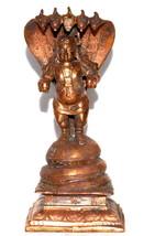 Bal Krishna Idol With Adishesha In Copper - $108.00