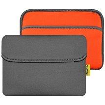 Reversible Neoprene Horizontal Sleeve with Pocket 8 inch - Slate Grey/ Orange - $11.83