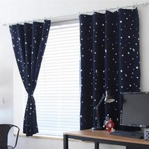 Window Curtains Full Light Shading Home Decor Blackout Thermal Solid Pol... - $20.88