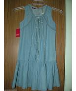 Guess Big Girls Sleeveless Ruffled Light Denim Dress,Size Large. NWT - $24.74
