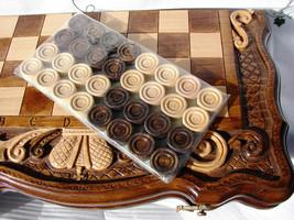 3 in 1 Armenian Handmade Backgammon + Chess + Сheckers Set Board Game Ha... - $98.00