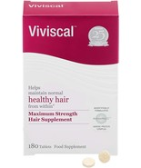 Viviscal Woman Maximum Strength Supplements, 180 Tablets [BB 03/23] [New... - $82.99