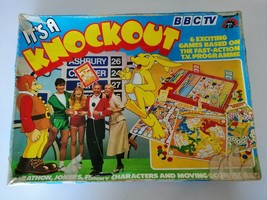 Vintage BBC TV Its A Knockout Board Game Complete By Harbutts Ltd - $28.50