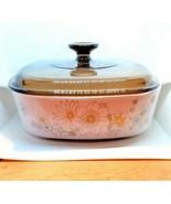 "Vintage  Corning Ware 2 1/2 Quart Casserole Dish with Lid ""Daisy Pattern... - $98.99"