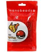 RARE Kawada Nanobeads Pokemon Pikachu And Poke Ball Official  - $19.60