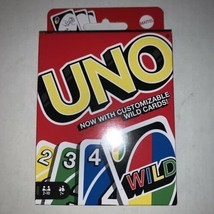UNO Classic Card Game Now With Customizable Wild Cards Free Shipping New - $8.95