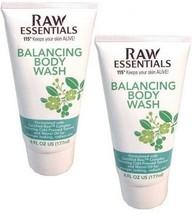 2x Raw Essentials by Carol Alt BALANCING BODY WASH  Paraben & Fragrance ... - $14.99