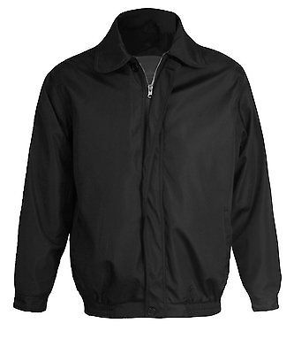 New Microfiber Men's Golf Sport Windbreaker Water Resistant Zip Up Jacket Black