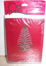 Elegant Tinsel Tree Holiday Party Invitations - $3.32