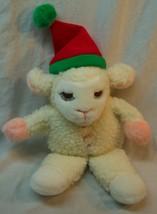 "Avon CHRISTMAS BABY LAMB CHOP HAND PUPPET 13"" Plush STUFFED ANIMAL Toy 1991 - $19.80"