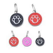 6Pcs Dog ID Tag Colour Ceramic Glaze Cute Colorful Pet Tag for Dogs - £11.85 GBP