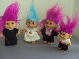 Russ Troll Doll Lot Bride, Groom, Preacher, Ring Bearer Wedding - $15.00