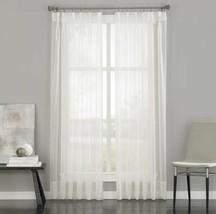 "Liz Claiborne Gromet Curtain Panel Sheer White Lisette 50""W X 84""L New - $15.98"