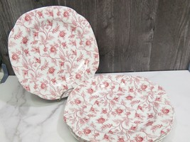 """Set of 5 Spode Rose Pink Chintz Lunch Plates 9"""" - $49.50"""