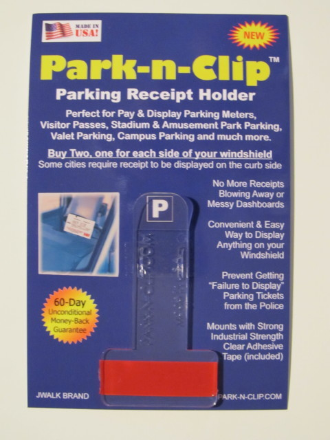 PARK-N-CLIP (Parking Meter Receipt Holder)