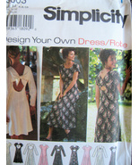 Simplcity 9603 OOP Unused Womans 6 to 10 Design Your Dress  - $7.95