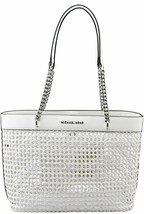 Michael Kors Kinsley Large Tote in Optic White - $222.75