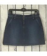 Tommy Hilfiger Tommy Jeans Dark Denim Mini Jean Skirt Womens Juniors Siz... - $17.99