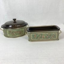 Pyrex Originals Fireside Bakeware 1.5 QT Amber Loaf Dish Pan & 2 QT Cass... - ₨2,799.64 INR